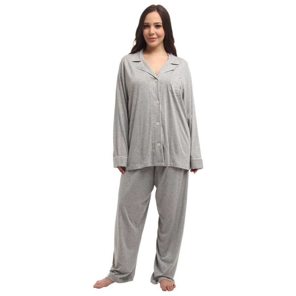 ラルフ ローレン LAUREN Ralph Lauren レディース インナー・下着 パジャマ・上下セット【Plus Size Hammond Knits Pajama Set】Heather Grey