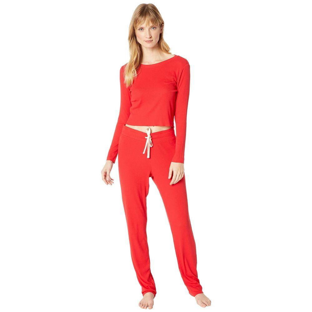 スカーレットブルー Skarlett Blue レディース インナー・下着 パジャマ・上下セット【Daydream Two-Piece Set - Cropped Shirt & Lounge Pants】Santa Red