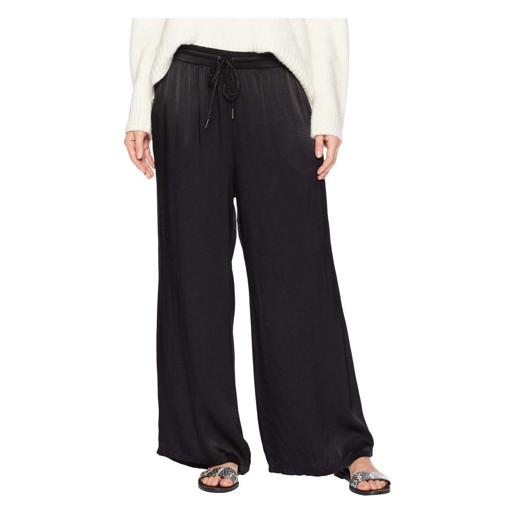 モドオードック Mod-o-doc レディース ボトムス・パンツ クロップド【Satin Cropped Wide Leg Lounge Pants】Black