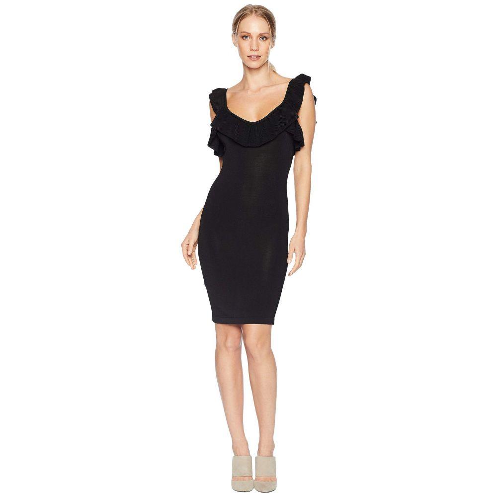 ベベ Bebe レディース ワンピース・ドレス ワンピース【Ruffle Neck Zip Front Dress】Black