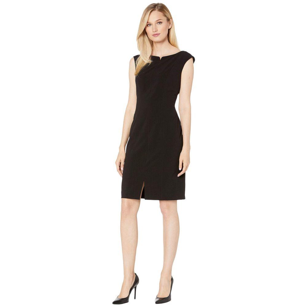 アン クライン Anne Klein レディース ワンピース・ドレス ワンピース【Split Front Ext. Cap Sheath Dress】Anne Black