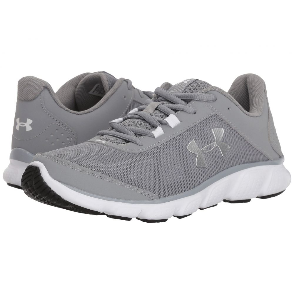 アンダーアーマー Under Armour レディース ランニング・ウォーキング シューズ・靴【UA Micro G Assert 7】Steel/White/Metallic Silver