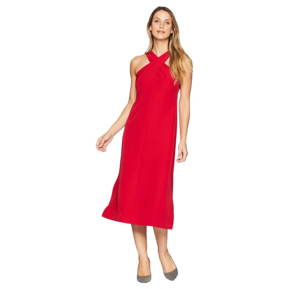 マギーロンドン Maggy London レディース ワンピース・ドレス ワンピース【Twist Neck Dream Crepe Midi Dress】Cranberry