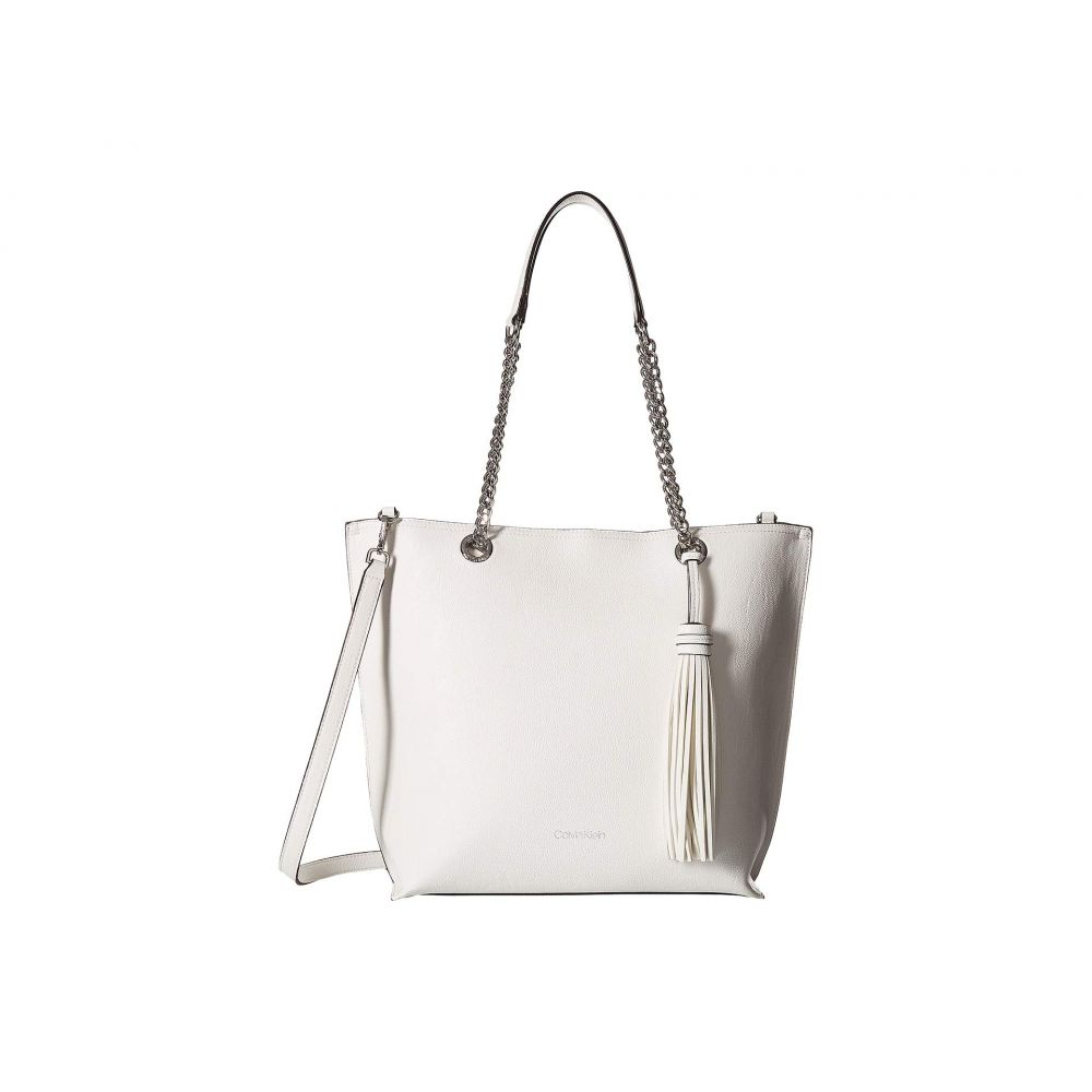 カルバンクライン Calvin Klein レディース バッグ トートバッグ【Unlined Novelty Top Zip Tote】White