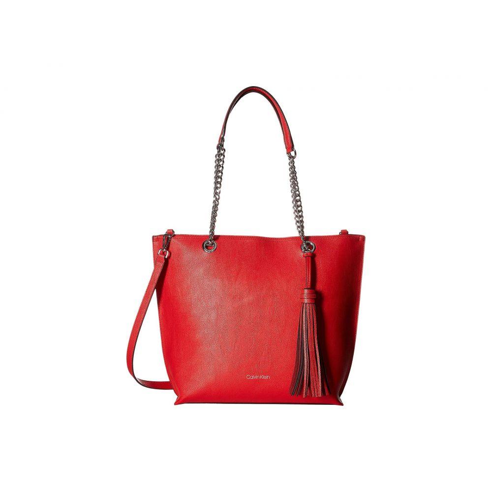 カルバンクライン Calvin Klein レディース バッグ トートバッグ【Unlined Novelty Top Zip Tote】Rouge