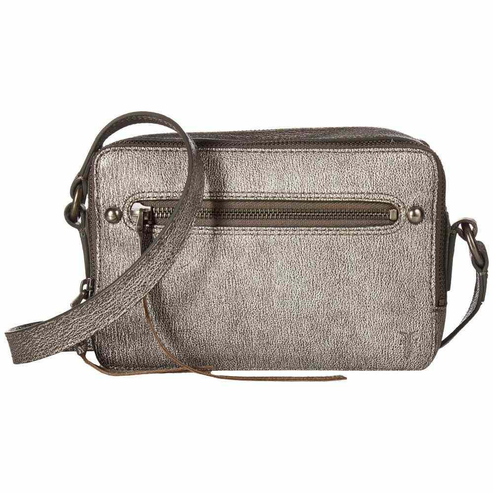 フライ Frye レディース バッグ【Zip Camera Bag】Silver Tumbled Metallic