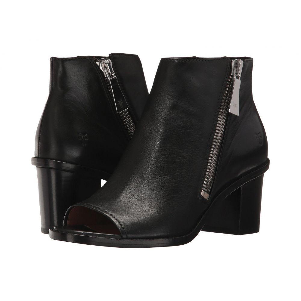 フライ Frye レディース シューズ・靴 サンダル・ミュール【Brielle Zip Peep Bootie】Black Polished Soft Full Grain