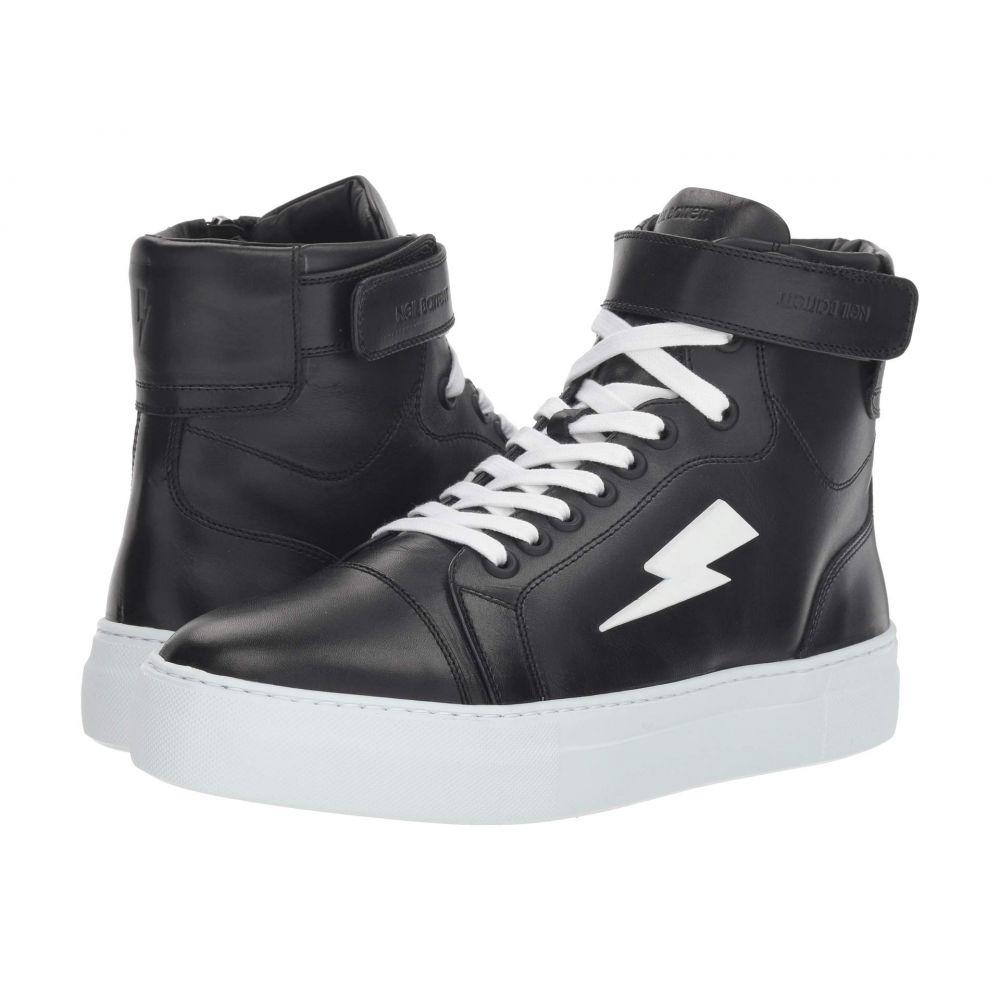 ニール バレット Neil Barrett メンズ バスケットボール シューズ・靴【Thunder Basketball Sneaker】Black/White