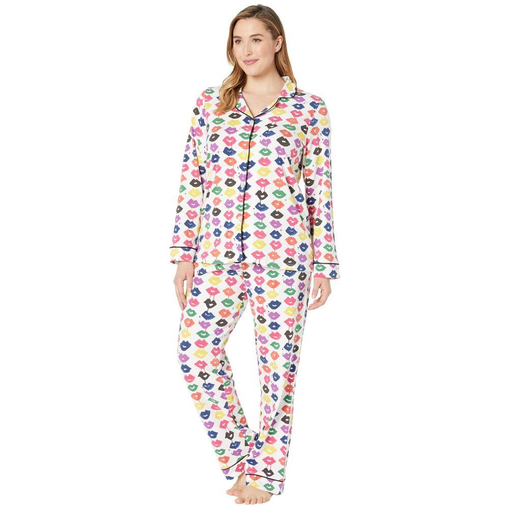 ベッドヘッド BedHead Pajamas レディース インナー・下着 パジャマ・上下セット【Plus Size Long Sleeve Classic Notch Collar Pajama Set】Sealed with A Kiss