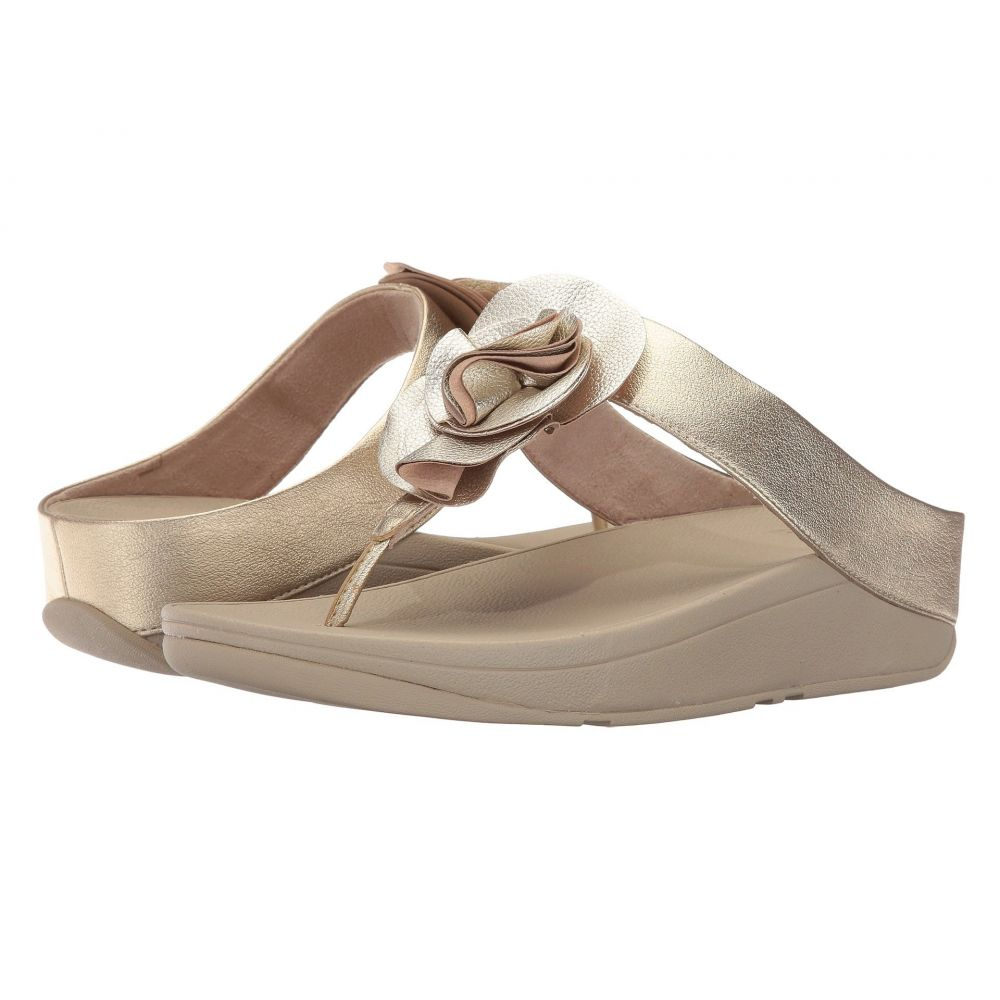 フィットフロップ FitFlop レディース シューズ・靴 ビーチサンダル【Florrie Toe-Post】Pale Gold