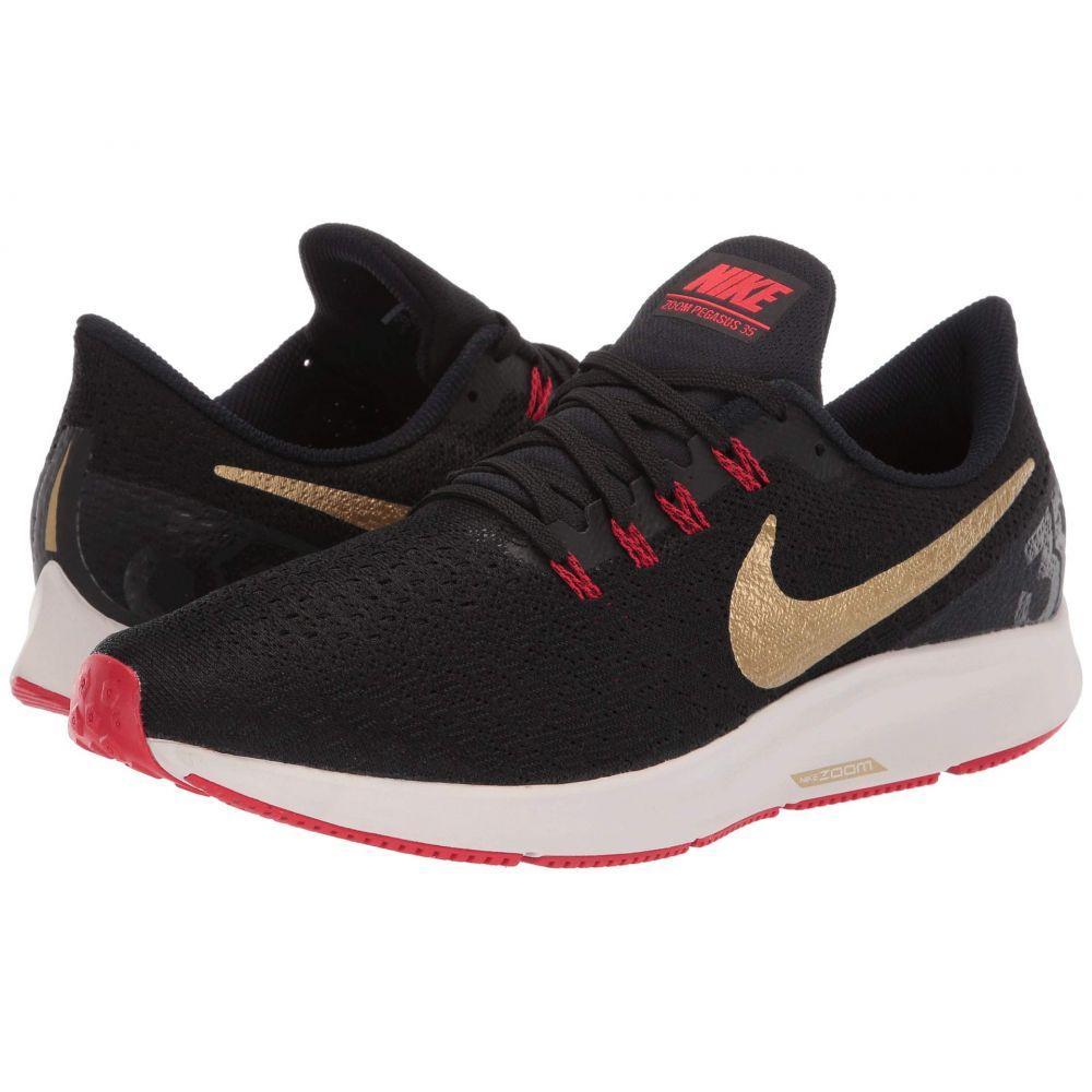 ナイキ Nike メンズ ランニング・ウォーキング シューズ・靴【Air Zoom Pegasus 35】Black/Metallic Gold/University Red