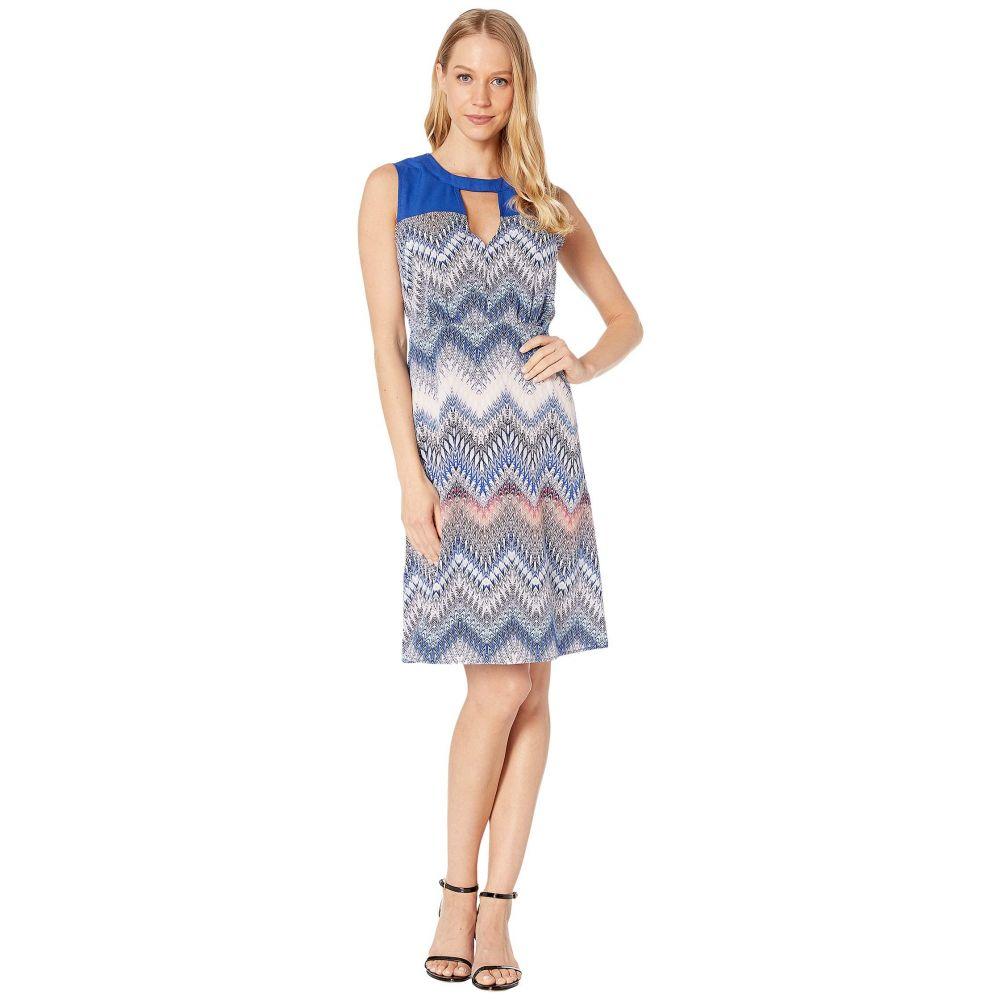 ビーシービージーマックスアズリア BCBGMAXAZRIA レディース ワンピース・ドレス ワンピース【Woven Print Block Dress】Multi/Zigzag Ombre