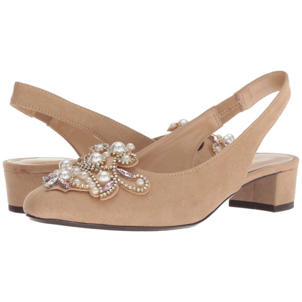 ジェイレニー J. Renee レディース シューズ・靴 パンプス【Delroy】Beige Suede/White Pearls