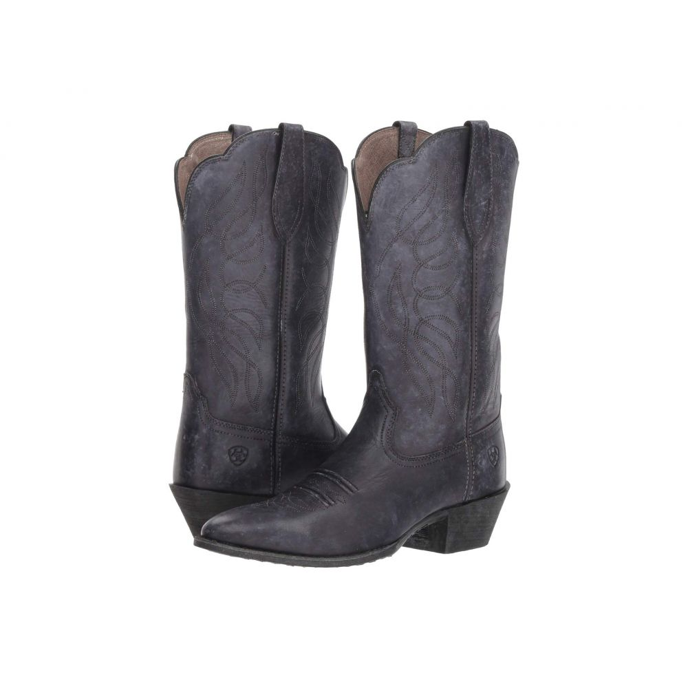 アリアト Ariat レディース シューズ・靴 ブーツ【Heritage Western R Toe】Naturally Distressed Black