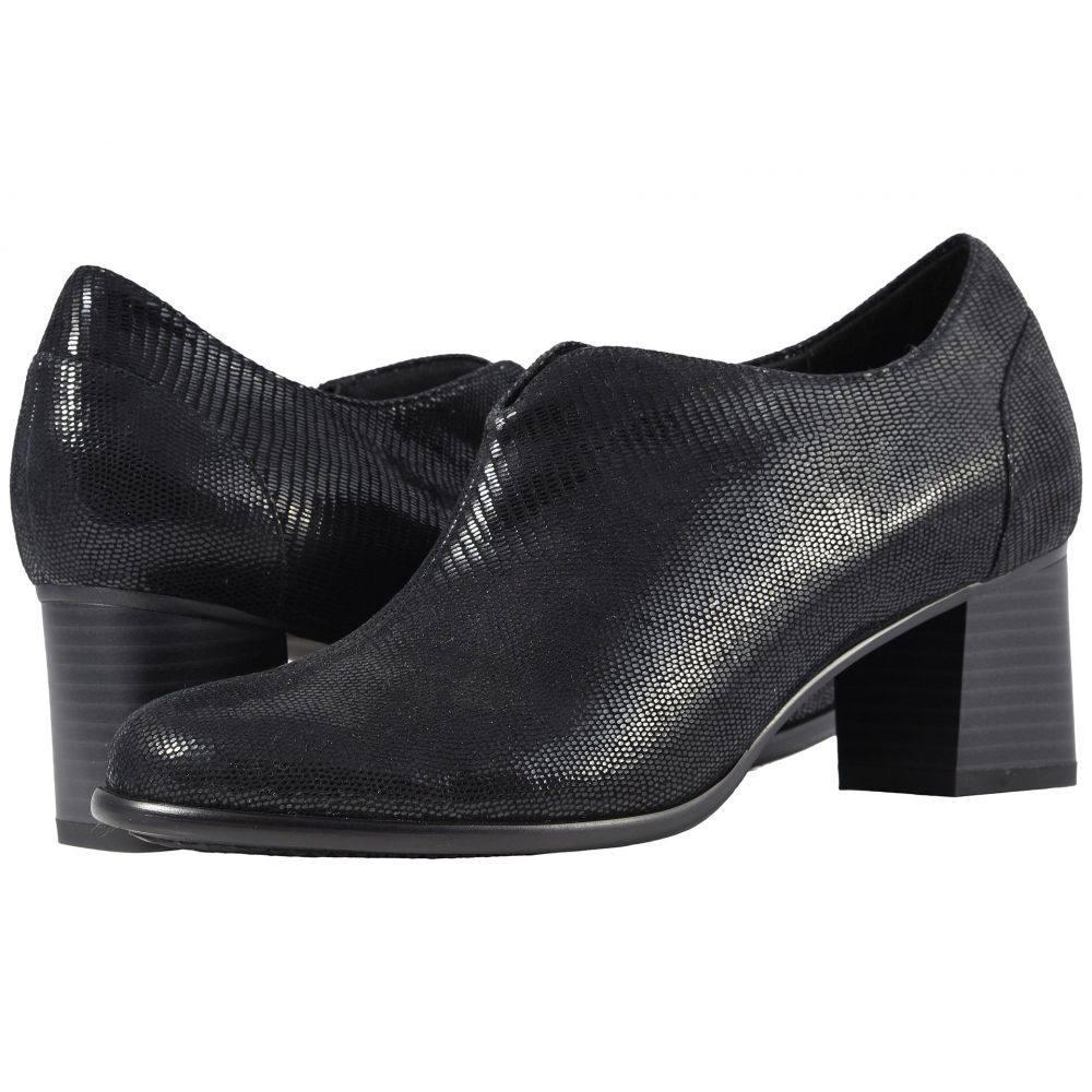 トロッターズ Trotters レディース シューズ・靴 ブーツ【Qutie】Black Soft Lizard Embossed Patent Suede