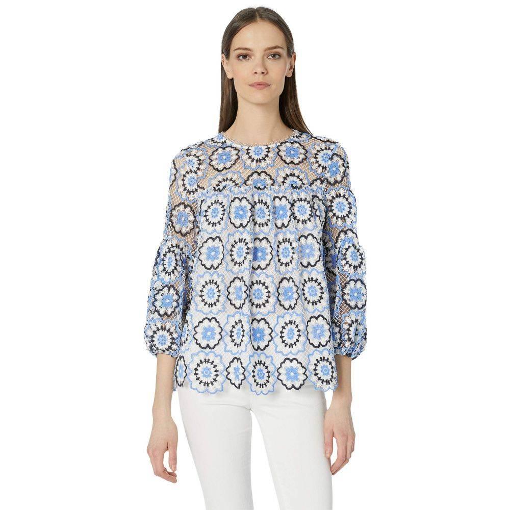 モニーク ルイリエ ML Monique Lhuillier レディース トップス ブラウス・シャツ【Multicolored Lace Blouse】Blue Multi