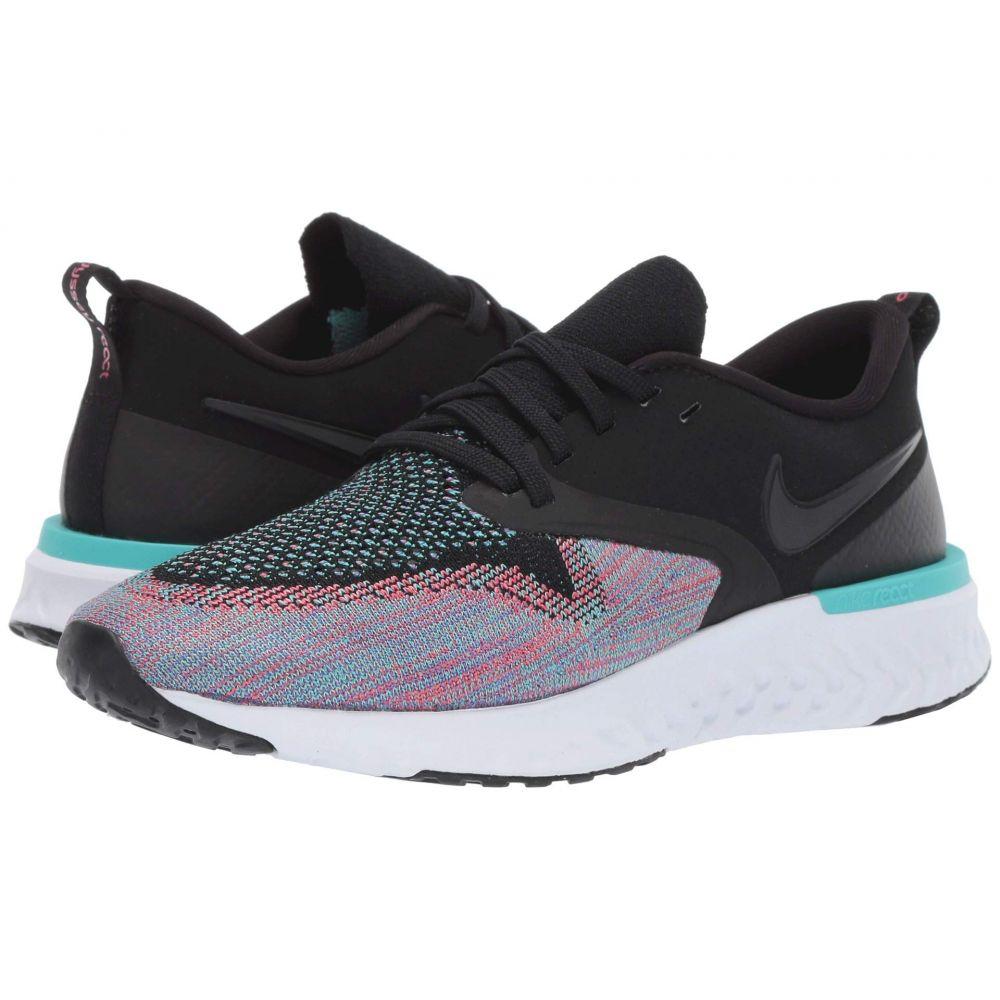 ナイキ Nike レディース ランニング・ウォーキング シューズ・靴【Odyssey React Flyknit 2】Black/Black/Hyper Jade/Ember Glow