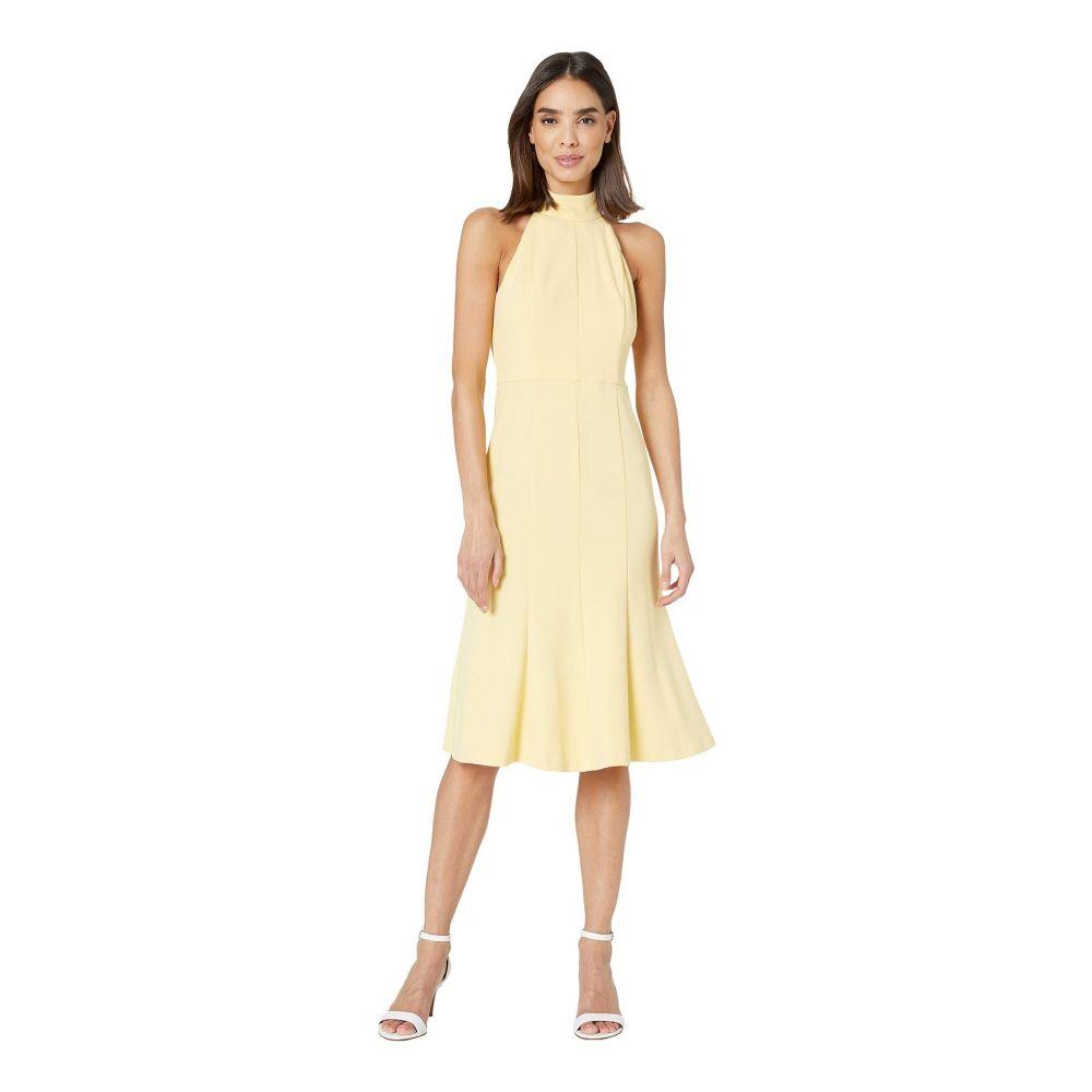 ドナ モルガン Donna Morgan レディース ワンピース・ドレス ワンピース【Crepe Mock Neck Halter Midi Dress】Daffodil
