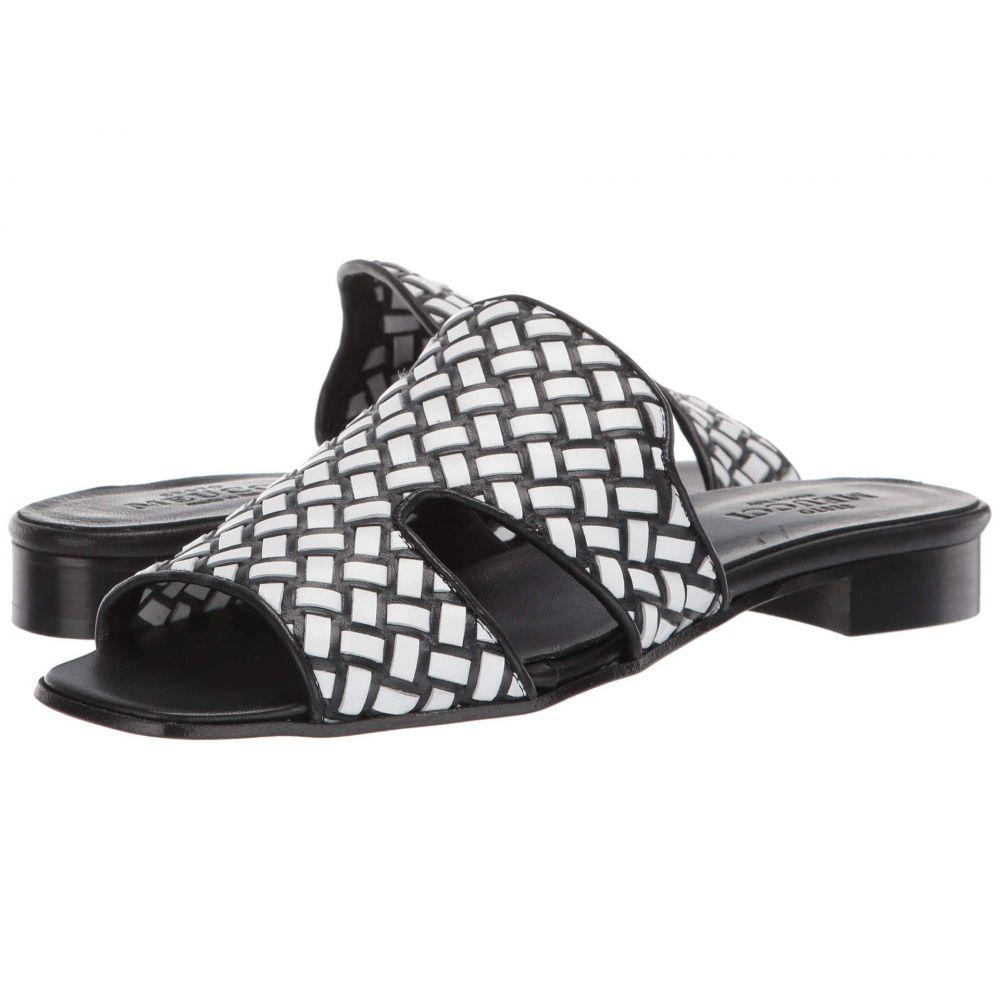 セスト メウッチ Sesto Meucci レディース シューズ・靴 サンダル・ミュール【Geomar】White/Black Itha Weave/Black Nappa