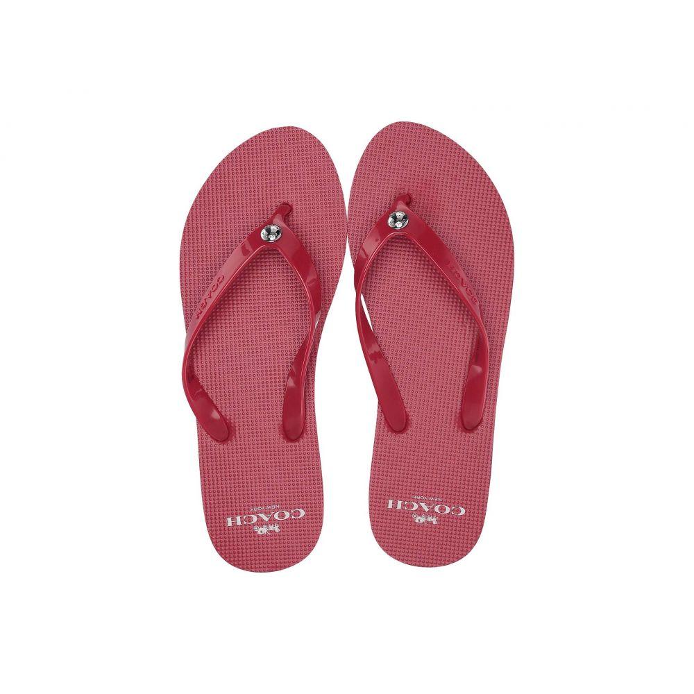 コーチ COACH レディース シューズ・靴 ビーチサンダル【Flip-Flop】Red
