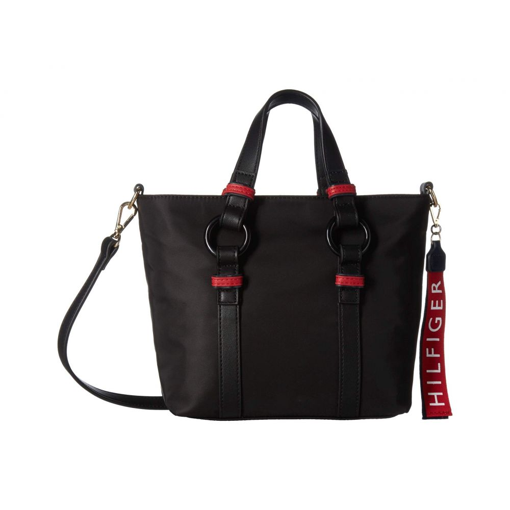 トミー ヒルフィガー Tommy Hilfiger レディース バッグ トートバッグ【Leona Convertible Mini Shopper】Black