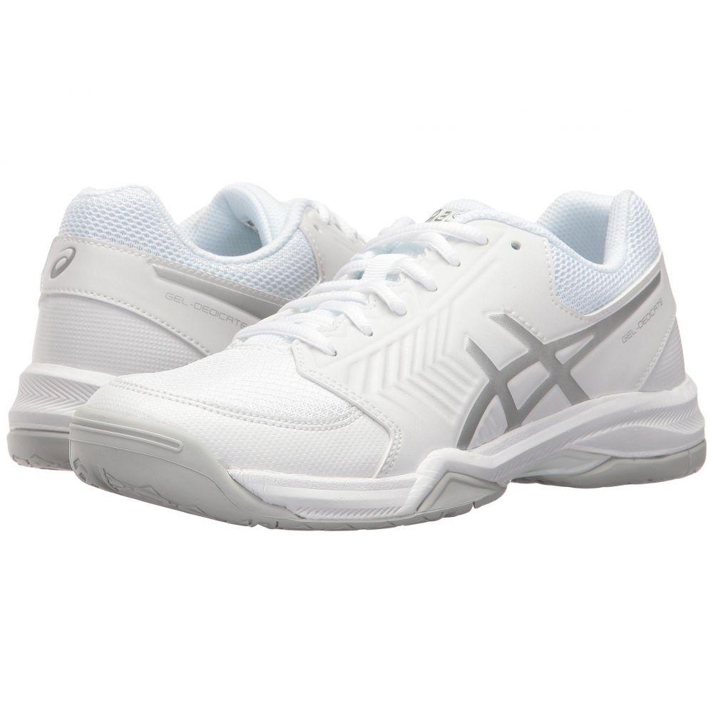 アシックス ASICS レディース テニス シューズ・靴【Gel-Dedicate 5】White/Silver