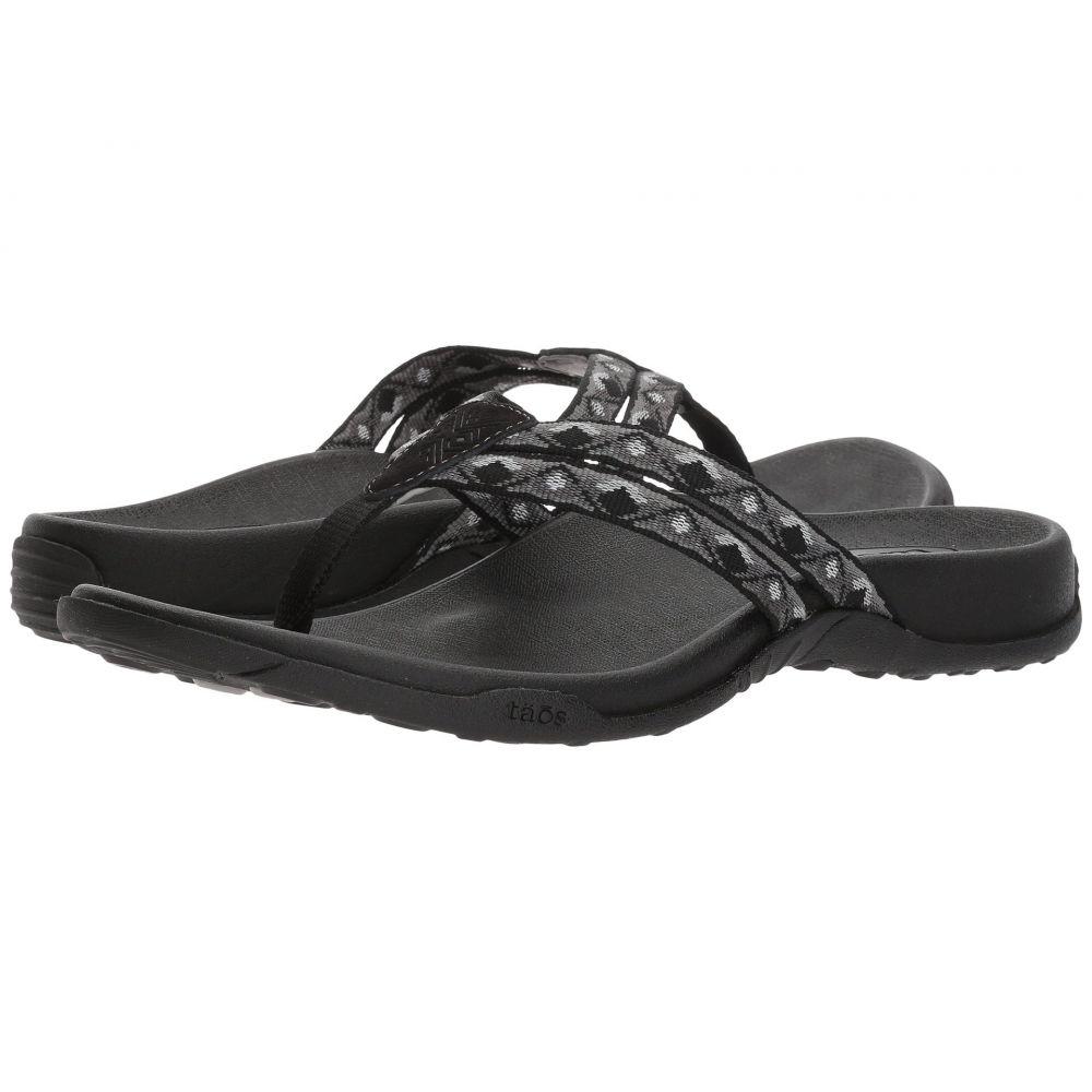 タオス Taos Footwear レディース シューズ・靴 ビーチサンダル【Primo】Black/White