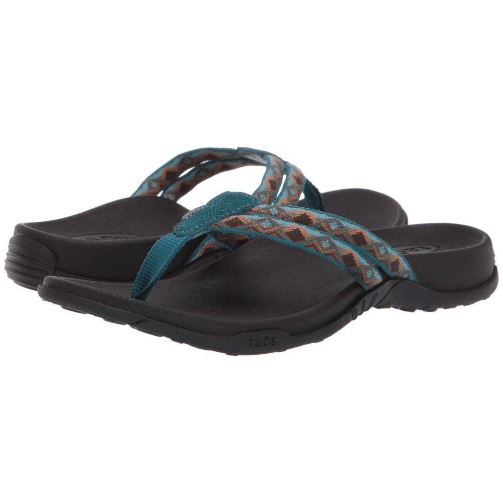 タオス Taos Footwear レディース シューズ・靴 ビーチサンダル【Primo】Teal/Tan