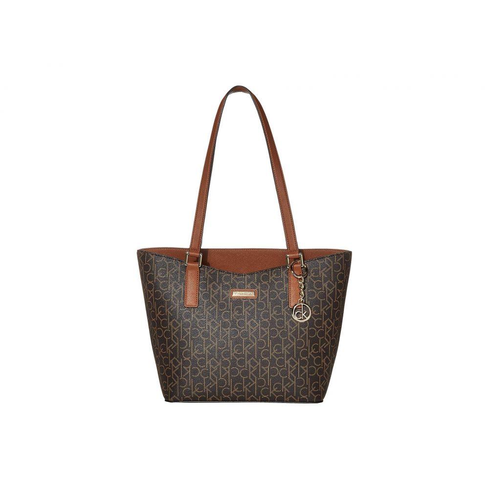 カルバンクライン Calvin Klein レディース バッグ トートバッグ【Key Item Monogram Tote】Brown/Khaki/Luggage