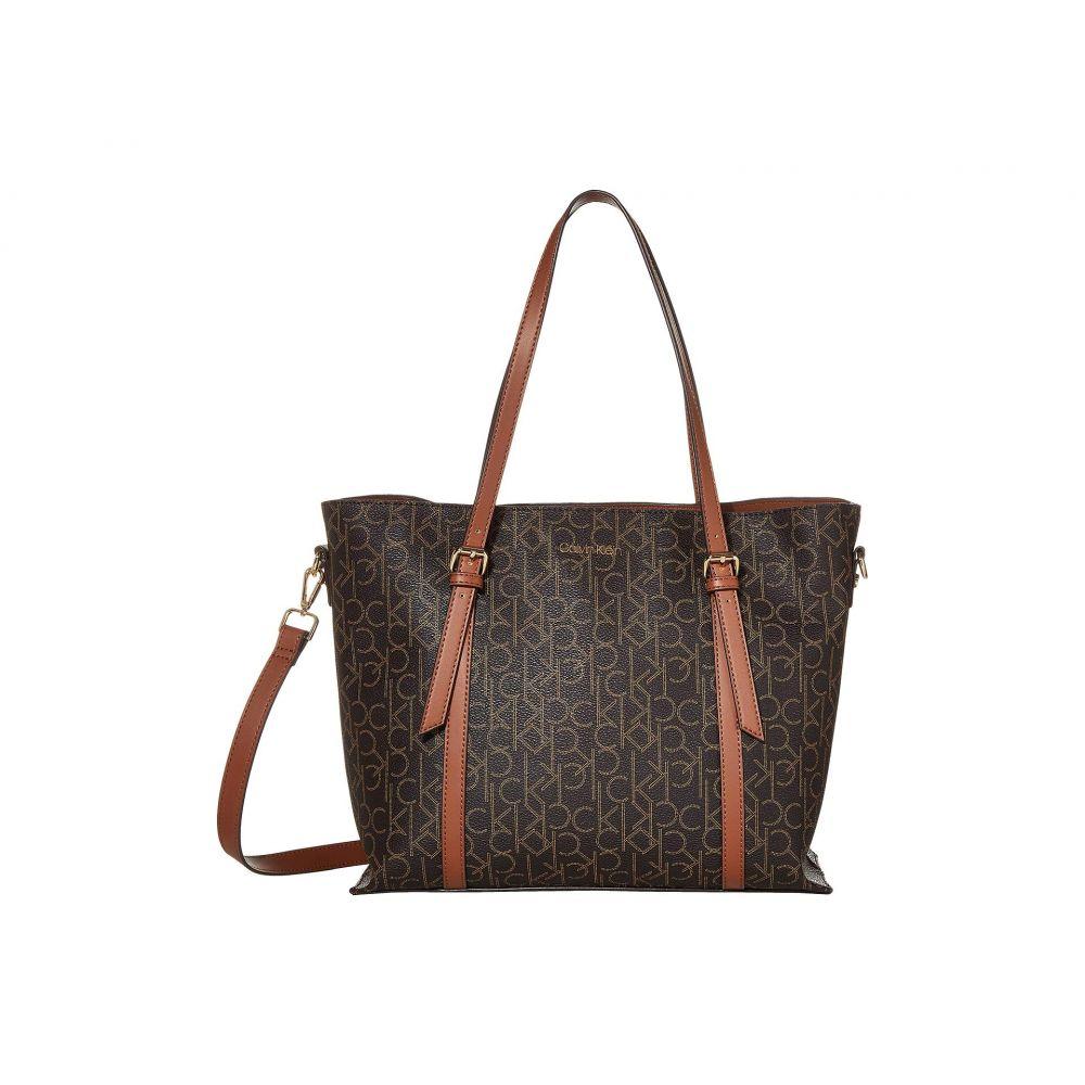 カルバンクライン Calvin Klein レディース バッグ トートバッグ【PYC East/West Tote】Brown/Khaki/Luggage