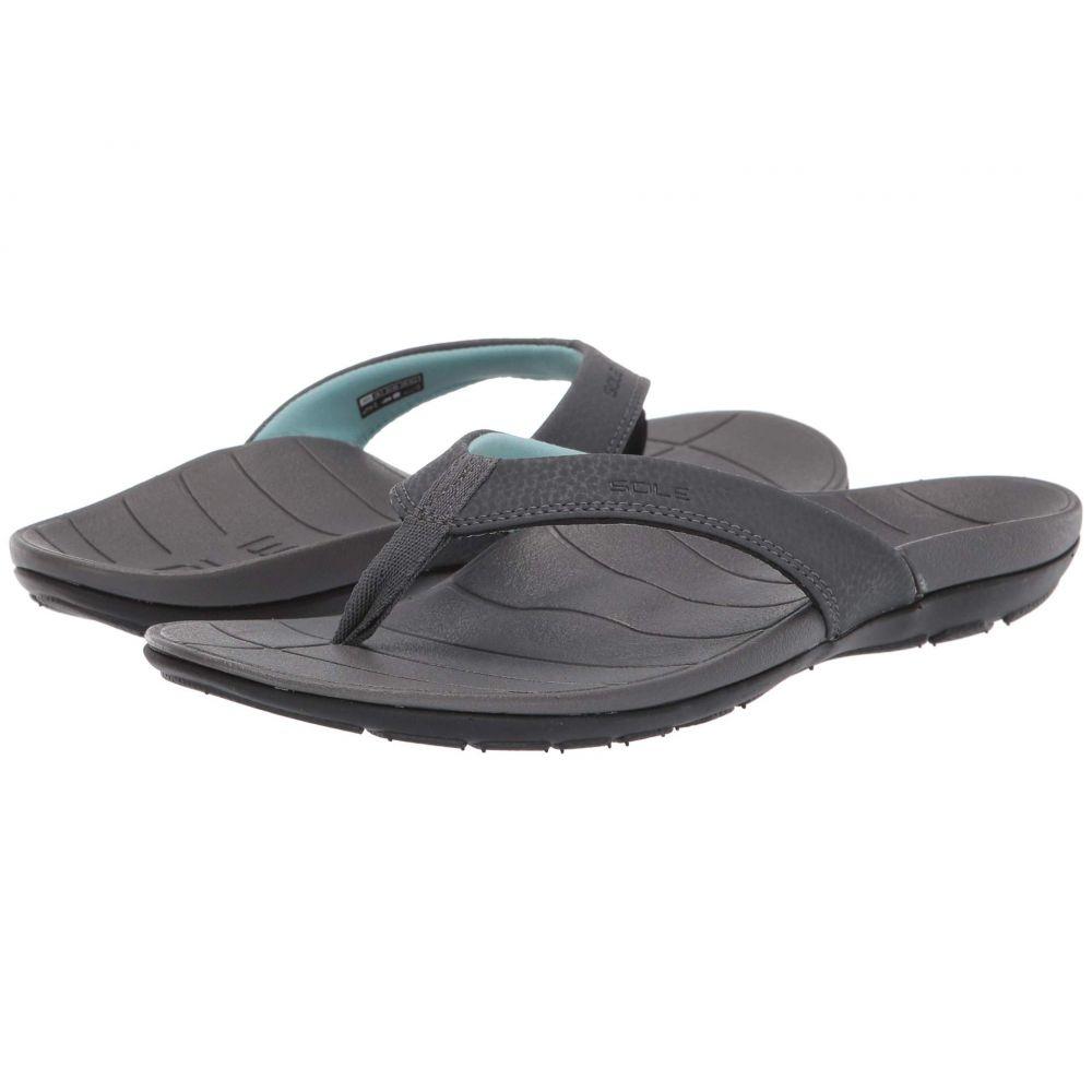 ソール SOLE レディース シューズ・靴 ビーチサンダル【Baja Flip】Dark Grey