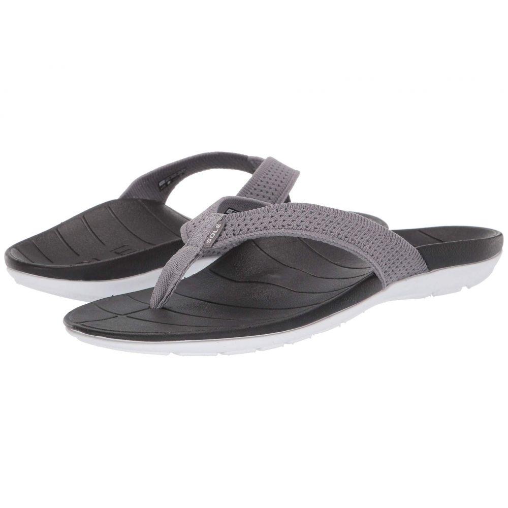 ソール SOLE レディース シューズ・靴 ビーチサンダル【Costa Flip】Grey