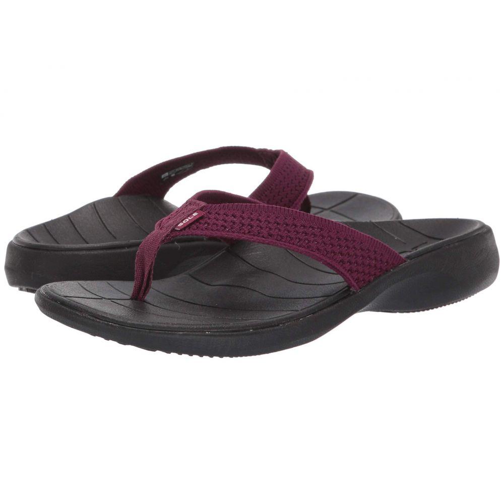 ソール SOLE レディース シューズ・靴 ビーチサンダル【Del Mar Flip】Mulberry