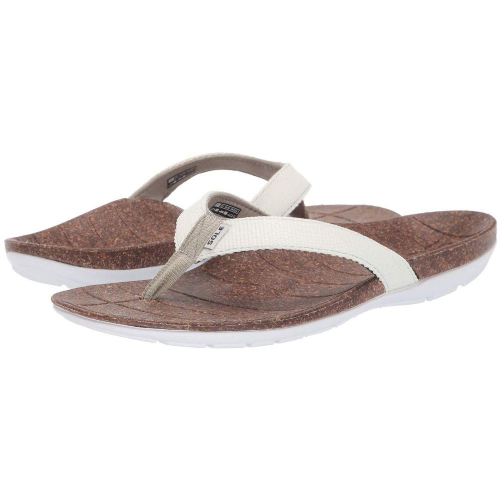 ソール SOLE レディース シューズ・靴 ビーチサンダル【Santa Cruz Flip】White/Sage Green