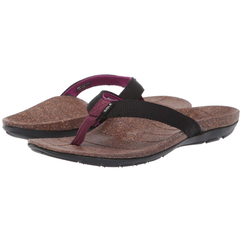 ソール SOLE レディース シューズ・靴 ビーチサンダル【Santa Cruz Flip】Black