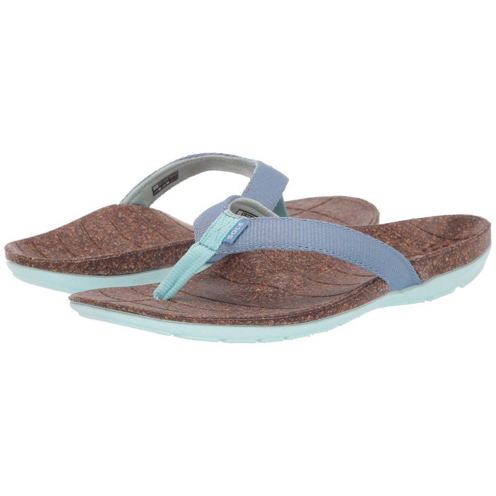 ソール SOLE レディース シューズ・靴 ビーチサンダル【Santa Cruz Flip】Grey/Light Teal