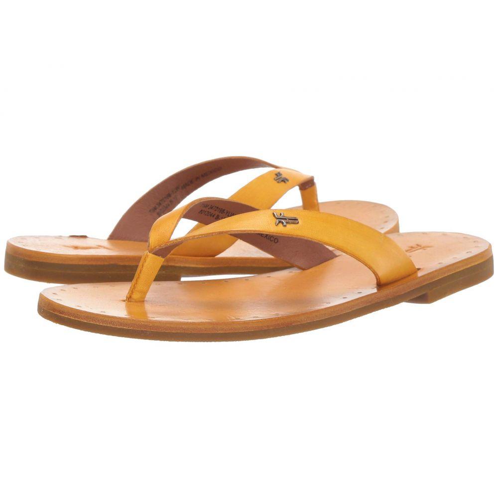 フライ Frye レディース シューズ・靴 ビーチサンダル【Azalea Logo Flip-Flop】Yellow Antique Veg Tan