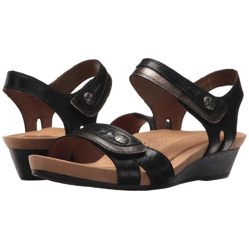 ロックポート Rockport Cobb Hill Collection レディース サンダル・ミュール シューズ・靴【Cobb Hill Hollywood Two-Piece Sandal】Black Leather