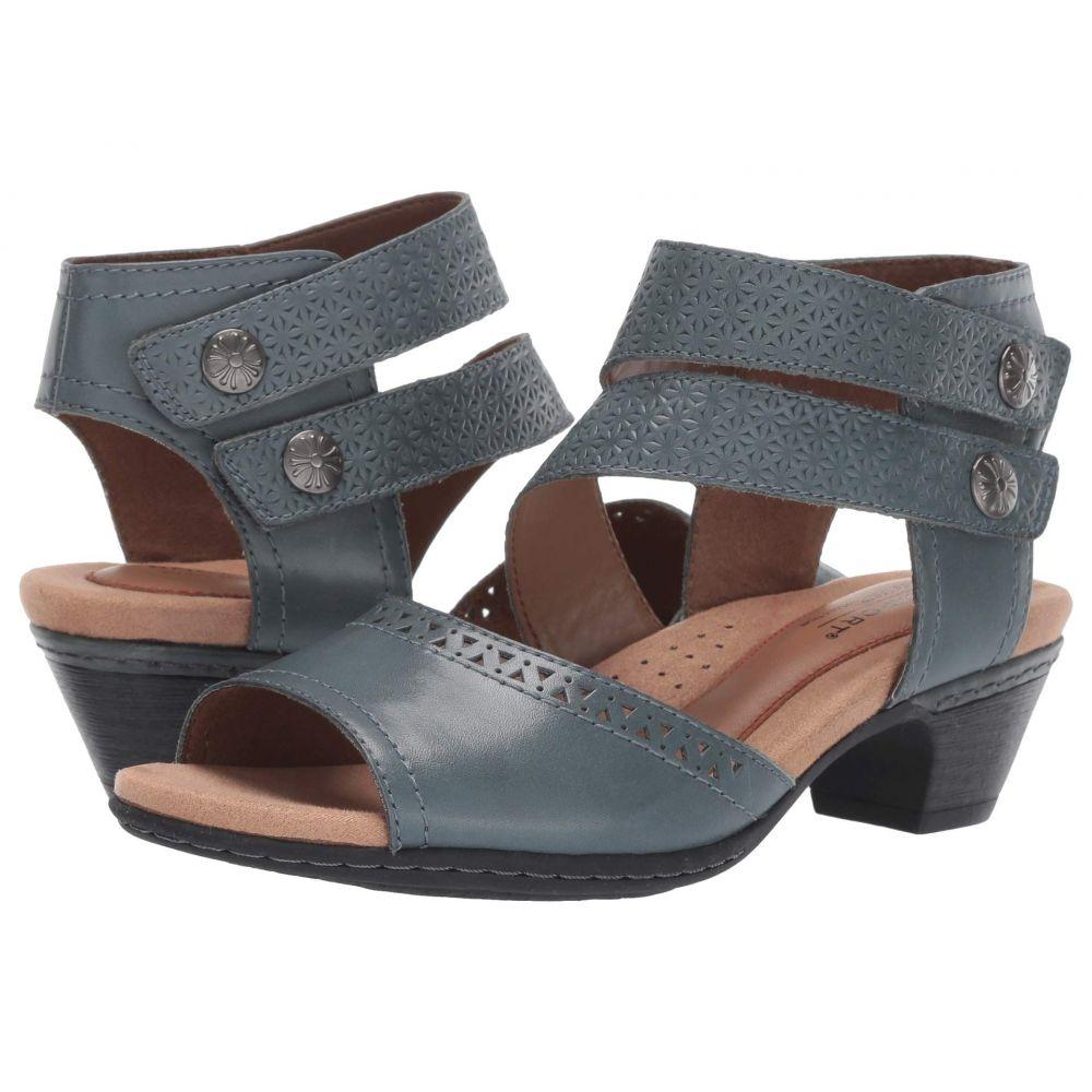 ロックポート Rockport Cobb Hill Collection レディース サンダル・ミュール シューズ・靴【Abbott Two-Piece Cuff】Blue