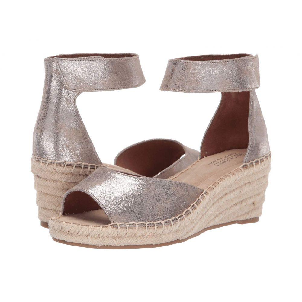 ロックポート Rockport Cobb Hill Collection レディース サンダル・ミュール シューズ・靴【Kairi Two-Piece Ankle】Taupe Metallic