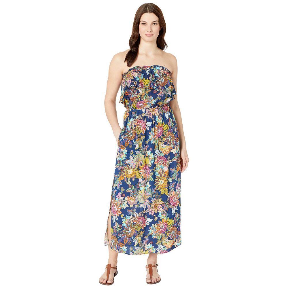 ブルー ロッド ビーティー Bleu Rod Beattie レディース ビーチウェア ワンピース・ドレス 水着・ビーチウェア【Let The Sunshine In Rayon Bandeau Long Dress】Navy Multi