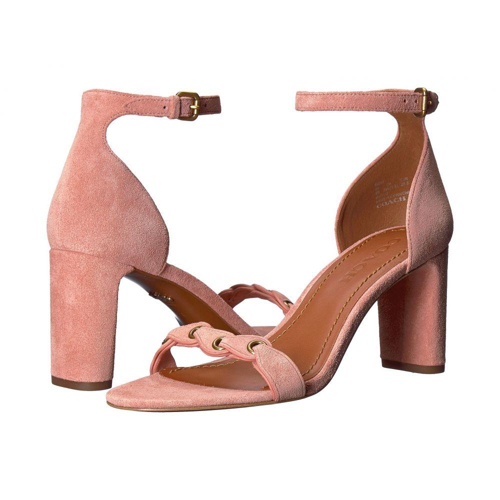 コーチ COACH レディース サンダル・ミュール シューズ・靴【Heel Sandal】Peony Link Leather Suede