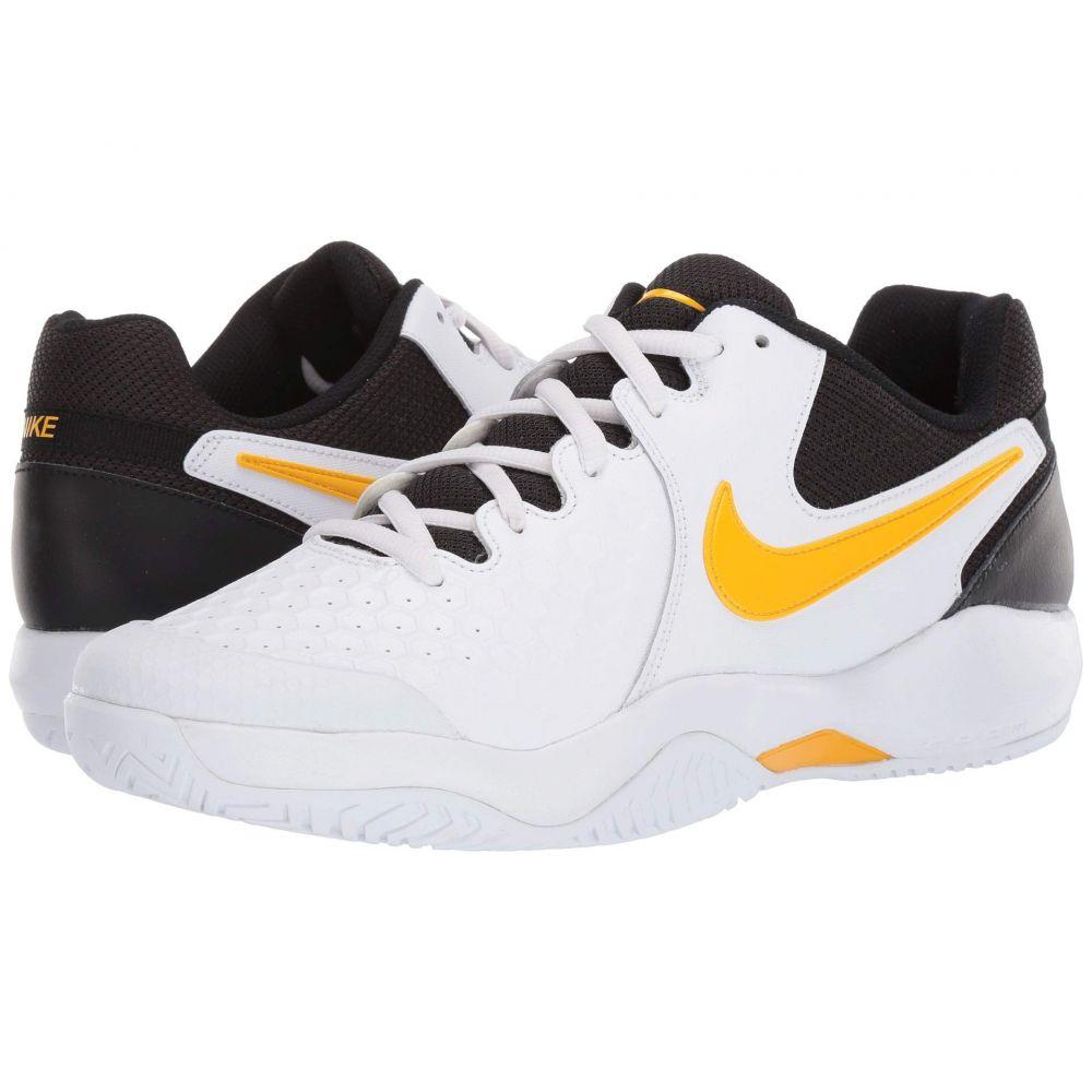 ナイキ Nike メンズ テニス エアズーム シューズ・靴【Air Zoom Resistance】White/Black/University Gold