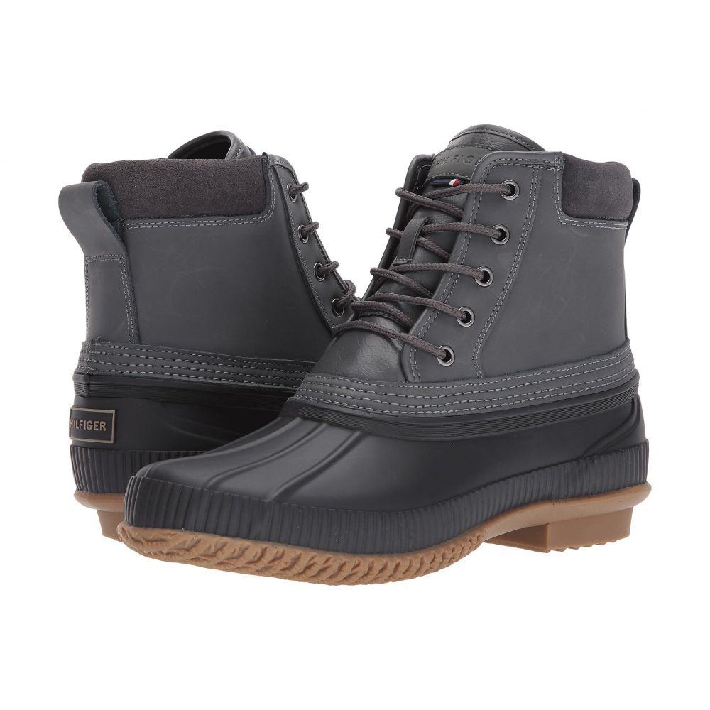 トミー ヒルフィガー Tommy Hilfiger メンズ レインシューズ・長靴 シューズ・靴【Casey】Grey Leather