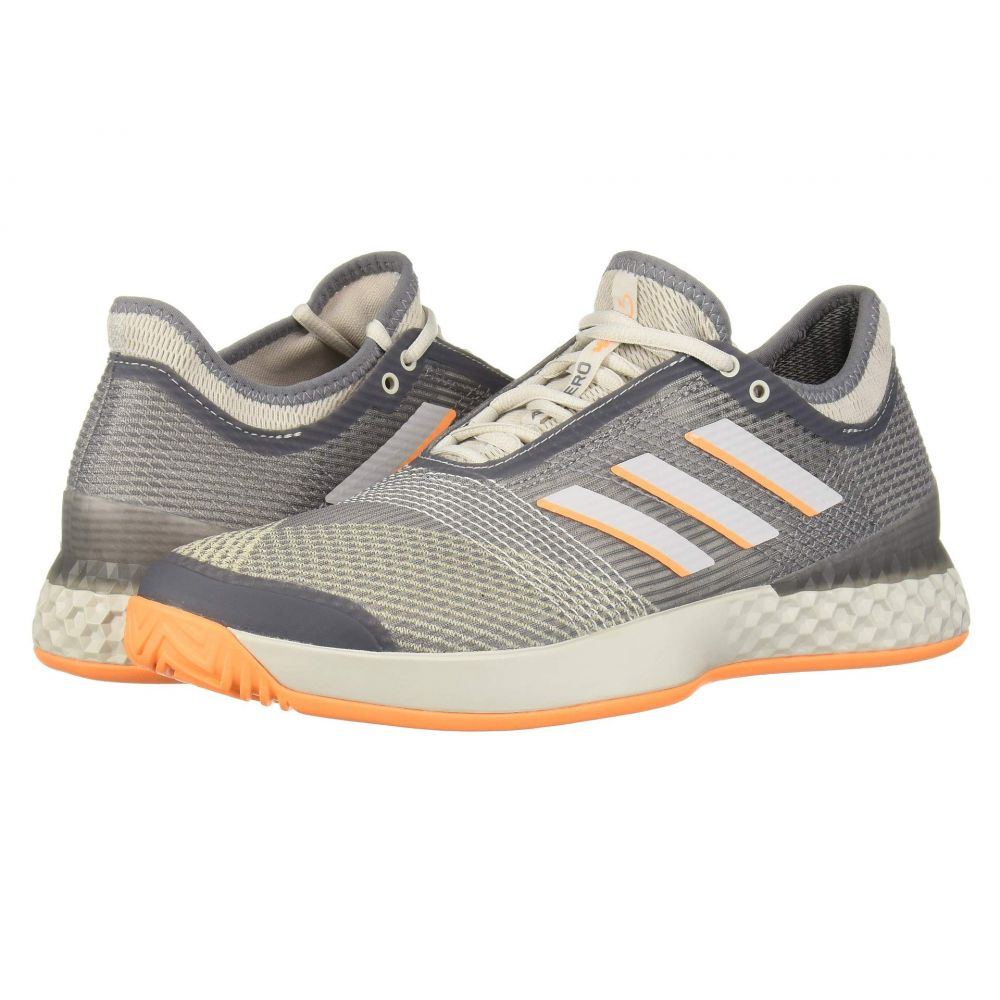 アディダス adidas メンズ テニス シューズ・靴【adizero Ubersonic 3】Grey Three F/Grey One F/Flash Orange