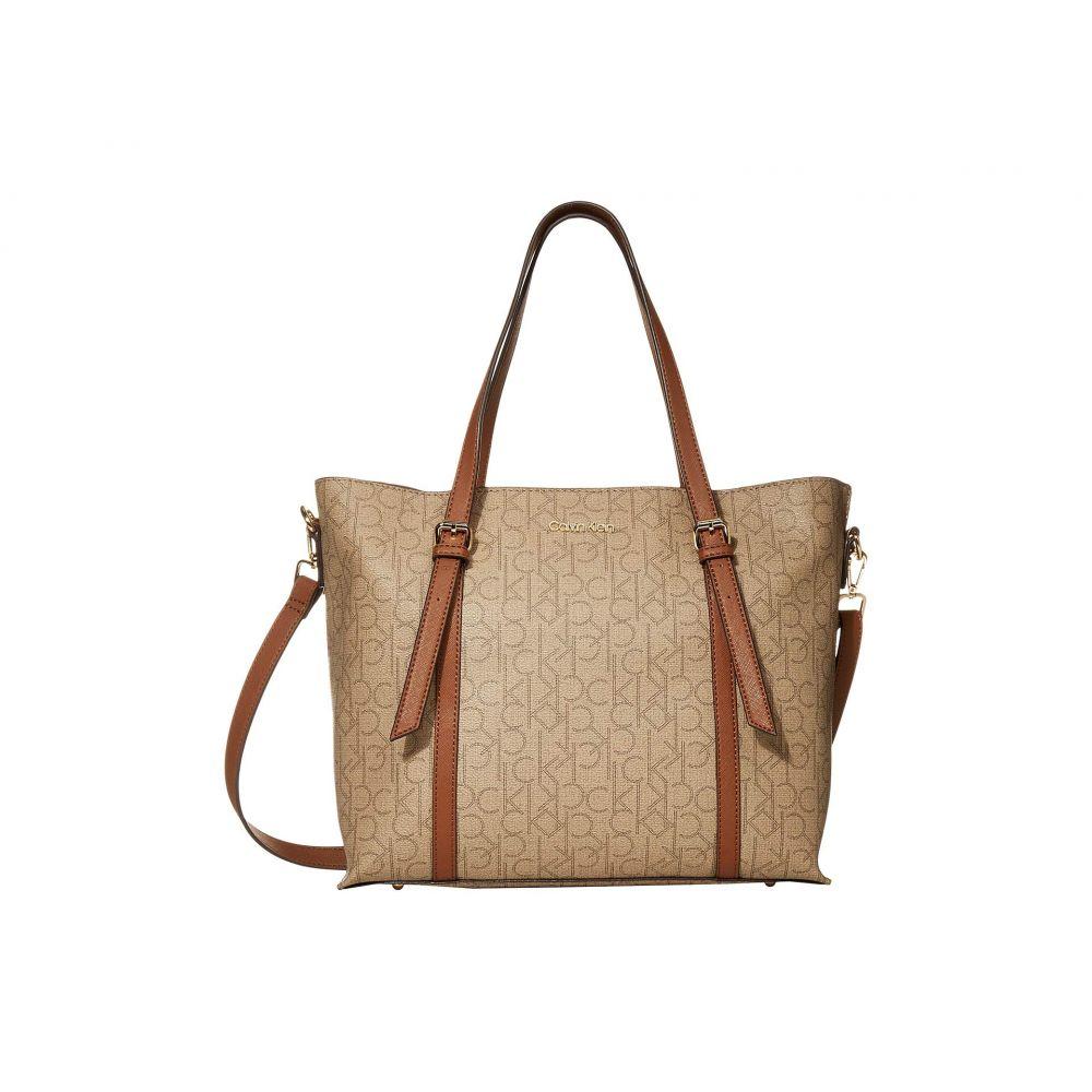 カルバンクライン Calvin Klein レディース トートバッグ バッグ【PYC East/West Tote】Natural/Luggage