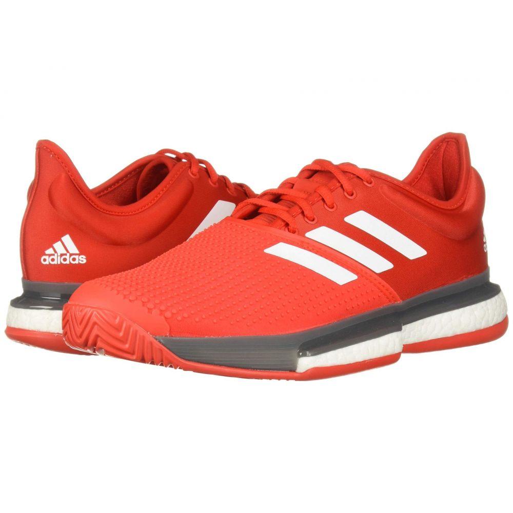 アディダス adidas メンズ テニス シューズ・靴【SoleCourt Boost】Active Red/Footwear White/Grey Four F
