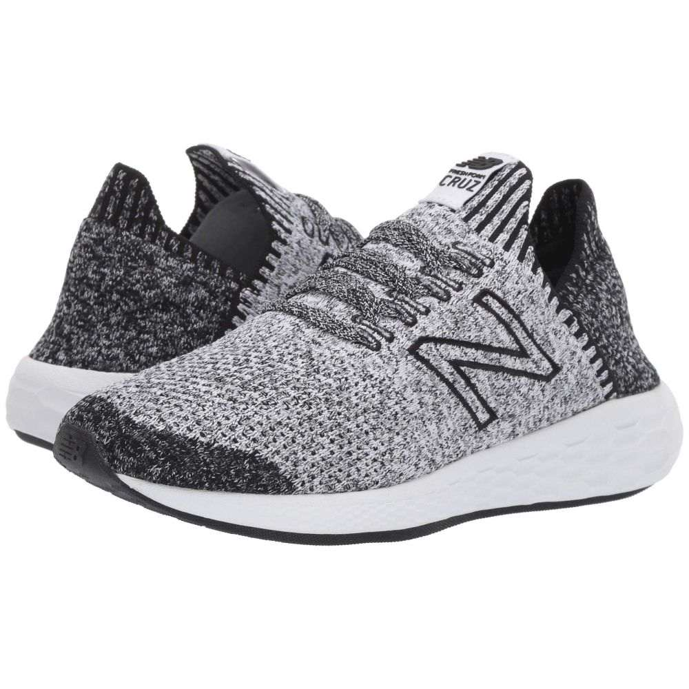 ニューバランス New Balance レディース ランニング・ウォーキング ソックス シューズ・靴【Fresh Foam Cruz v2 Sock Fit】Black/White