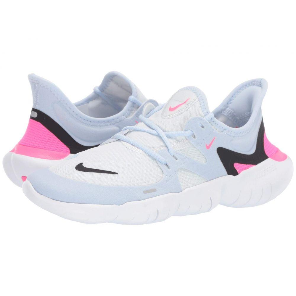 ナイキ Nike レディース ランニング・ウォーキング シューズ・靴【Free RN 5.0】White/Black/Half Blue/Hyper Pink