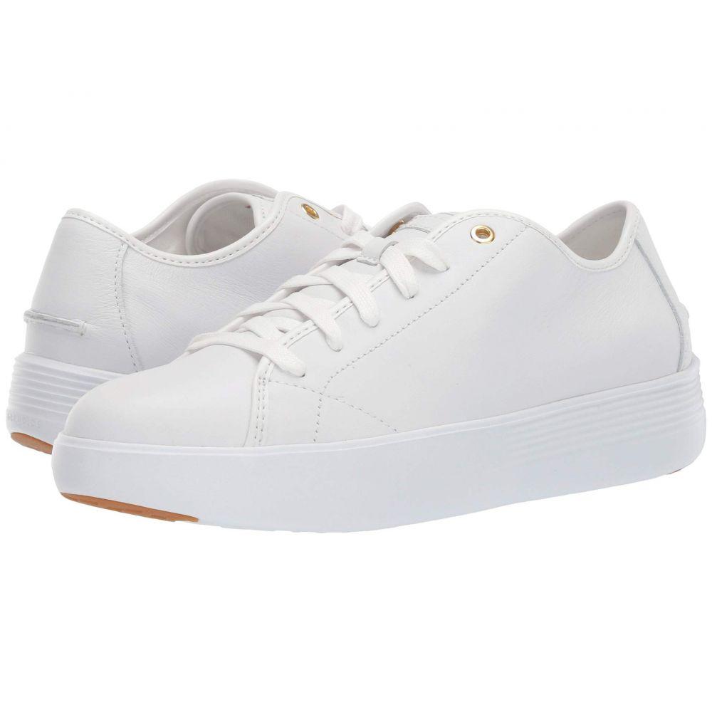 コールハーン Cole Haan レディース スニーカー シューズ・靴【grand crosscourt tennis flatform】Optic White Leather/Optic White